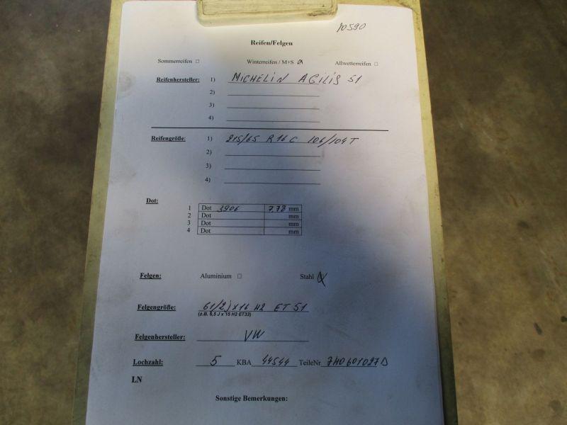 Notrad Reserverad MICHELIN 215/65 R16 CVW T5 V BUS 03-09