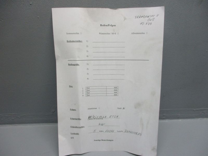 Stahlfelgen Satz 6,5Jx16 ET51VW T5 V BUS 03-09