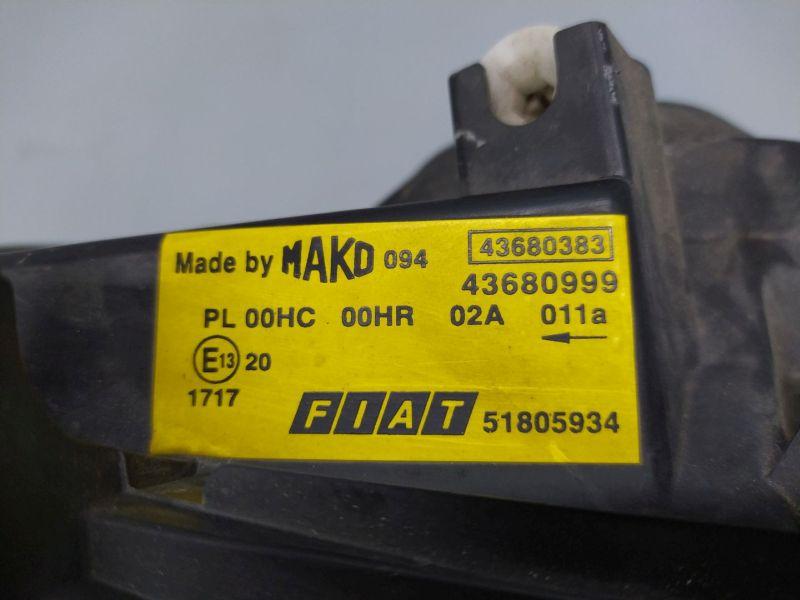 Scheinwerfer rechts FIAT DOBLO (119) 1.9 D MULTIJET
